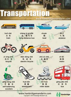 Chinese vocabulary of transportantion. Let's learn together!