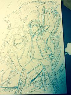The children of war God. A quick sketch.