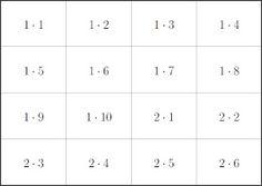 Mathe ist einfach: kleines 1x1 als Karteikarten zum Ausdrucken Multiplikation Flash Cards