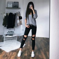 Rumored Hype on Casual Fall Outfits That Will Make You Look Cool Exposed Fall is nonetheless a good time to … Edgy Outfits, Teen Fashion Outfits, Mode Outfits, Cute Casual Outfits, Outfits For Teens, Fall Outfits, Girl Fashion, Summer Outfits, Style Fashion