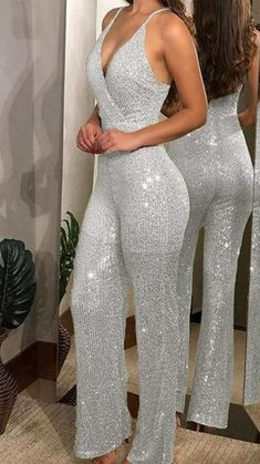 Sequin Jumpsuit, Bodycon Jumpsuit, Jumpsuit Outfit, Overall, Women's Summer Fashion, Fashion Today, Buy Dress, Jumpsuits For Women, Vestidos