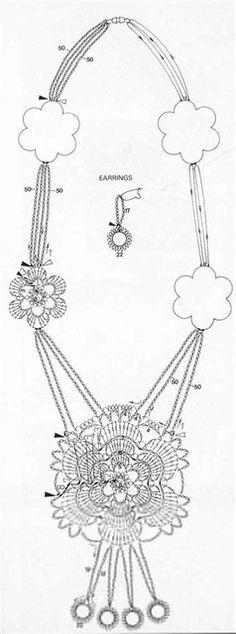 crochet Necklace diagram
