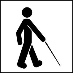 Symbol of a visually impaired person