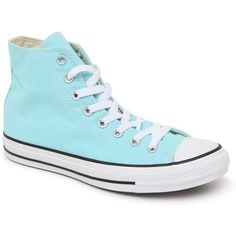 Converse Chuck Taylor High Top Seasonal Sneakers ($50) ❤ liked on Polyvore featuring shoes, sneakers, converse, high top trainers, high top shoes, rubber shoes, converse footwear and converse shoes