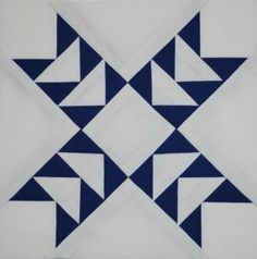 """""""Odd Fellows Cross"""" quilt block. I can see myself using this as a bee block."""