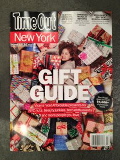 I spy eight Charles Lahti Studio silkscreen boxes and even more Kate's Paperie couture gift wrap on the cover of this week's Time Out NY magazine! http://www.timeout.com/newyork