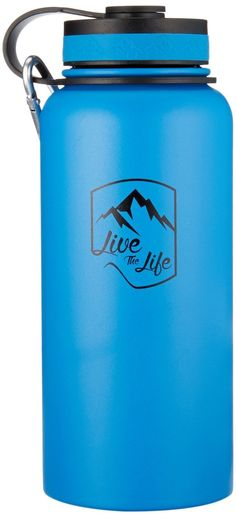 Stainless Steel Water Bottle - Wide Mouth Bottle - Insulated Water Bottle - Double Walled - Vacuum Insulated - Water Bottle 32 oz Insulated Thermos >>> Check this awesome product by going to the link at the image.