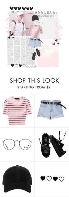 """Jin 진"" by sannannanna ❤ liked on Polyvore featuring Ray-Ban, Puma and rag & bone"