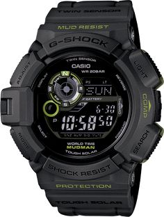 G shock Mudman G9300GY-1      Solar Powered      Digital Compass      Moon Graph      Mud & Shock Resistant      200M Water Resistant      Thermometer  $200