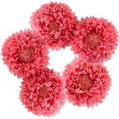 Pink Hues - Flower Décor - Set of 5 tissue paper flower decorations. Paper Flower Decor, Paper Decorations, Flower Decorations, Paper Flowers, Glass Flowers, Flower Vases, Flower Diy, Bouquet Holder, Tissue Paper Tassel