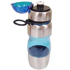 Cantil de alumínio-acrílico 450 ml.      Cantil de 450 ml.     Em alumínio e acrílico.     Com tampa e bico plástico.     Cores Básicas: Alumínio, Preto, Azul, Verde, Vermelho.