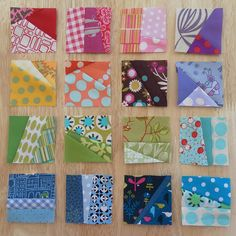 Easy way to use up scraps. tiny little blocks pieced randomly with scrap fabric.