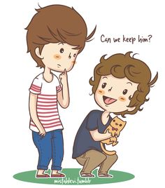 one direction cartoon One Direction Fan Art, One Direction Drawings, One Direction Cartoons, One Direction Quotes, One Direction Pictures, Larry Stylinson, Bae, Louis And Harry, Cartoon Drawings