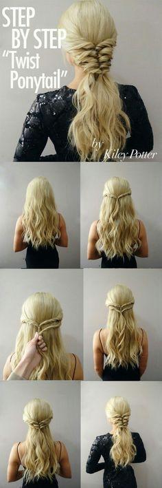 Peinados Step By Step Hairstyles, Easy Hairstyles, Wedding Hairstyles, Amazing Hairstyles, Headband Hairstyles, Vintage Hairstyles, Newest Hairstyles, Fantasy Hairstyles, Long Hairstyles