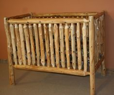Cedar Log Baby Crib 2.jpg - Vienna woodworks