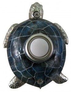 Blue Nickel Plated Turtle Doorbell!!! A Doorbell