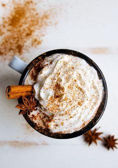 cinnamon clove spiced latte coffee art