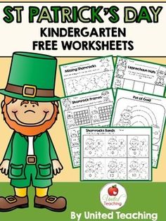 This free St Patrick's Day Worksheets packet contains several math & literacy worksheets that will provide your children the opportunity to practise essential skills during St Patrick's Day.I hope you enjoy this freebie!!!***Don't forget to check out my other St.