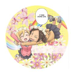 """""""open ymir/christa icon :£"""" by xx-prince-gumball-xx ❤ liked on Polyvore featuring art and noticons"""