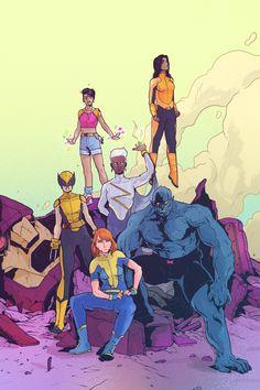 X-Men by Stefan Tosheff (stefantosheff) Wolverine Laura Kinney Jubilee Marvel Girl Rachel Grey Storm Beast Monet M