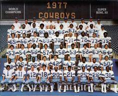 1977 Dallas Cowboys Superbowl Xii Champions Nfl Football 8X10 Team Photo