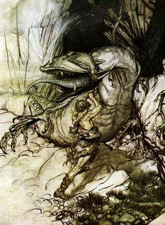 Siegfried kills Fafner - Siegfried and The Twilight of the Gods, 1911