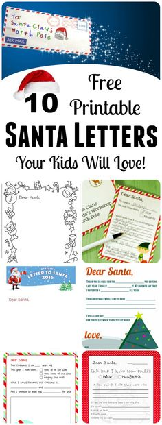 10 Free Printable Letters to Santa! || Letters from Santa Holiday Blog ...