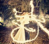 wedding with sparklers