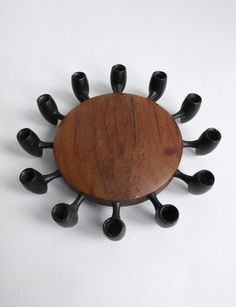 Digsmed Iron and Teak Candle Holder ~ Danmark