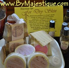 Handmade and Custom Blended Spa Products byMajestique!  Available at The Cotton Company - Downtown Wake Forest, NC or online www.byMajestique.com !