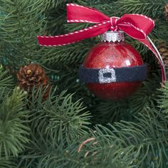 very cute easy class ornament idea or activity to with kids. You could even fill it with red shredded paper instead.