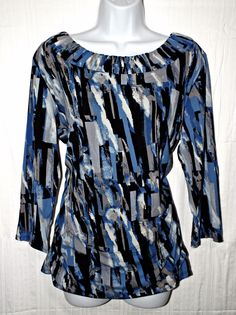 Style & Co Casual Multi Color Women's Top Blouse Size XL #Styleco #Blouse #Casual