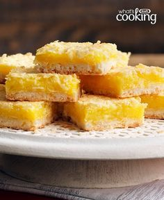Lemon-Coconut Bars  #recipe