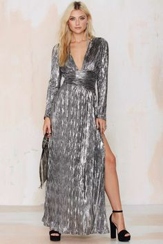 Nasty Gal Alloy Crinkle Dress | Shop Clothes at Nasty Gal!