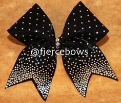 Hey, I found this really awesome Etsy listing at https://www.etsy.com/listing/184609890/black-tie-required-princess-cheer-bow