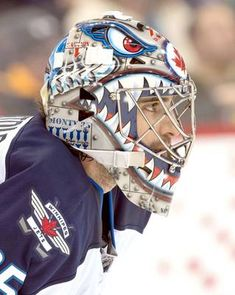 Best goalie masks of 2013 NHL season Goalie Gear, Hockey Helmet, Goalie Mask, Hockey Goalie, Jets Hockey, Ice Hockey Teams, Hockey Rules, Hockey Stuff, Travel