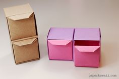 origami pull out drawers tutorial - #origami #crafts #drawers #papercraft #diy