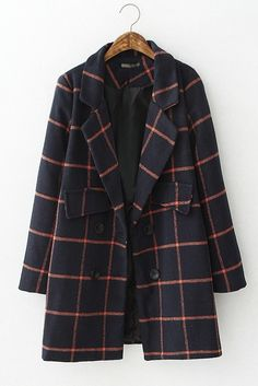 Classy Plaid Winter Coat