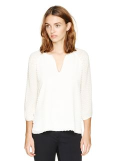 BABATON AUGUSTUS BLOUSE - Whisper light and airy in a beautiful mix of silk and cotton