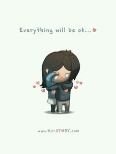 HJ-Story :: Everything Will Be OK aa en güzeli buymuş :) Hj Story, Love Cartoon Couple, Cute Love Cartoons, Cute Love Stories, Love Story, Ex Amor, What Is Love, My Love, Everything Will Be Ok