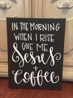 Jesus and coffee hand painted canvas wall art by DesignsbyJaniBee on Etsy https://www.etsy.com/listing/264851331/jesus-and-coffee-hand-painted-canvas