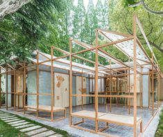 linehouse construct glass greenhouse for chinese street food store BAOBAO - Architecture - Street Foods Cafe Restaurant, Restaurant Design, Chinese Restaurant, Chinese Architecture, Interior Architecture, Chinese Street Food, Commercial Interiors, Green Building, Minimalist Design