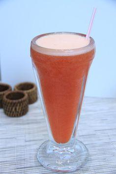 RECEITA THERMOMIX: Suco de maracujá, morango e mel