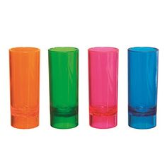 Party Essentials 10Count Hard Plastic 2Ounce ShotShooter Glasses Assorted Neon -- To view further for this item, visit the image link.  This link participates in Amazon Service LLC Associates Program, a program designed to let participant earn advertising fees by advertising and linking to Amazon.com.
