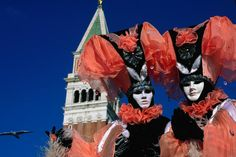 Venice during Carnival.