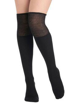 Perfectly Casual Socks in Black http://www.modcloth.com/shop/tights-socks/perfectly-casual-socks-in-black
