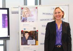 Bereichsleiterin Kommunikation beim DIHK Ute Brüssel hat die Projektwoche an der HMKW von Anfang an begleitet und zugesagt, dass die Ergebnisse für das Marketing verwendet werden.
