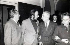 Borges todo el año: Fernando Quiñones: Bandeja anecdotaria - Foto: Fernando Quiñones con Jorge L. Borges y Luis Rosales  Madrid 1973. Imagen de la Fundación Quiñones