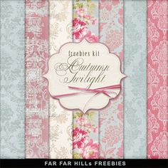 Far Far Hill - Free database of digital illustrations and papers: New Freebies Kit of Backgrounds - Autumn Twilight