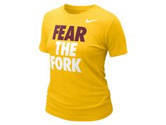 Perfect for a home game! #FearTheFork gold shirt